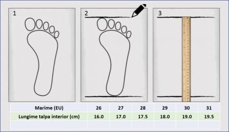 Sandale baieti din piele, HappyBee Denim Blue/Red, marimi 26-31 EU8
