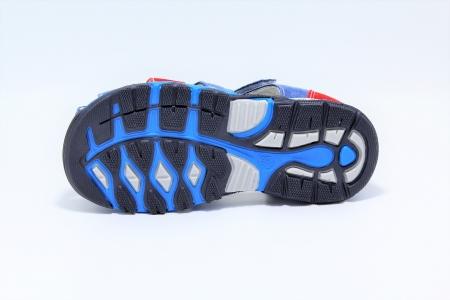 Sandale baieti din piele, HappyBee Denim Blue/Red, marimi 26-31 EU6