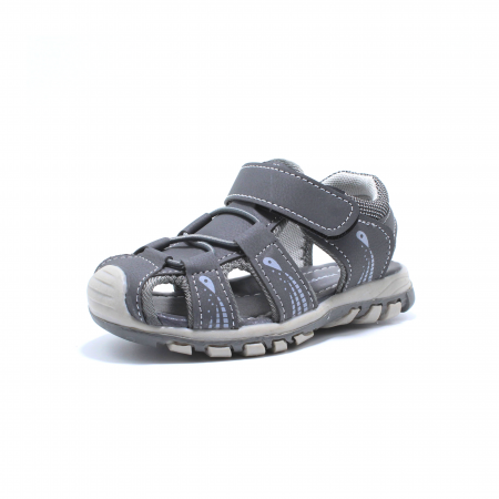 Sandale baieti Happy Bee, model 143090 gri inchis, 25-30 EU2