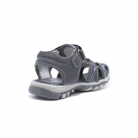 Sandale baieti Happy Bee, model 143090 gri inchis, 25-30 EU3