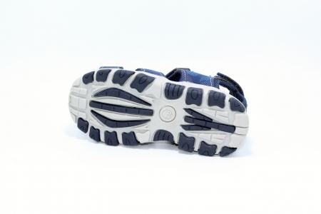 Sandale baieti HappyBee, piele si material textil, Army Camuflaj Navy, marimi 25-30 EU3