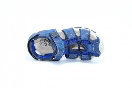 Sandale baieti HappyBee, piele si material textil, Army Camuflaj Navy, marimi 25-30 EU4