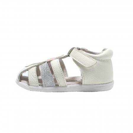 Sandale din piele Happy Bee, model 142864 albe, 19-24 EU1