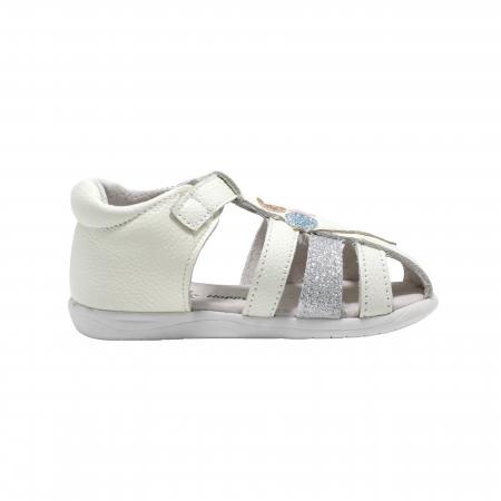 Sandale din piele Happy Bee, model 142864 albe, 19-24 EU2