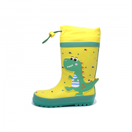 Cizme de ploaie pentru copii, Dino, galben-verde, 28-35 EU [0]