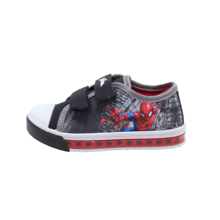 Tenisi cu luminite, Spiderman, model 7125, gri/multicolor, 25-33 EU
