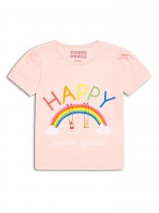 Tricou roz pal Happy 2-8 ani0