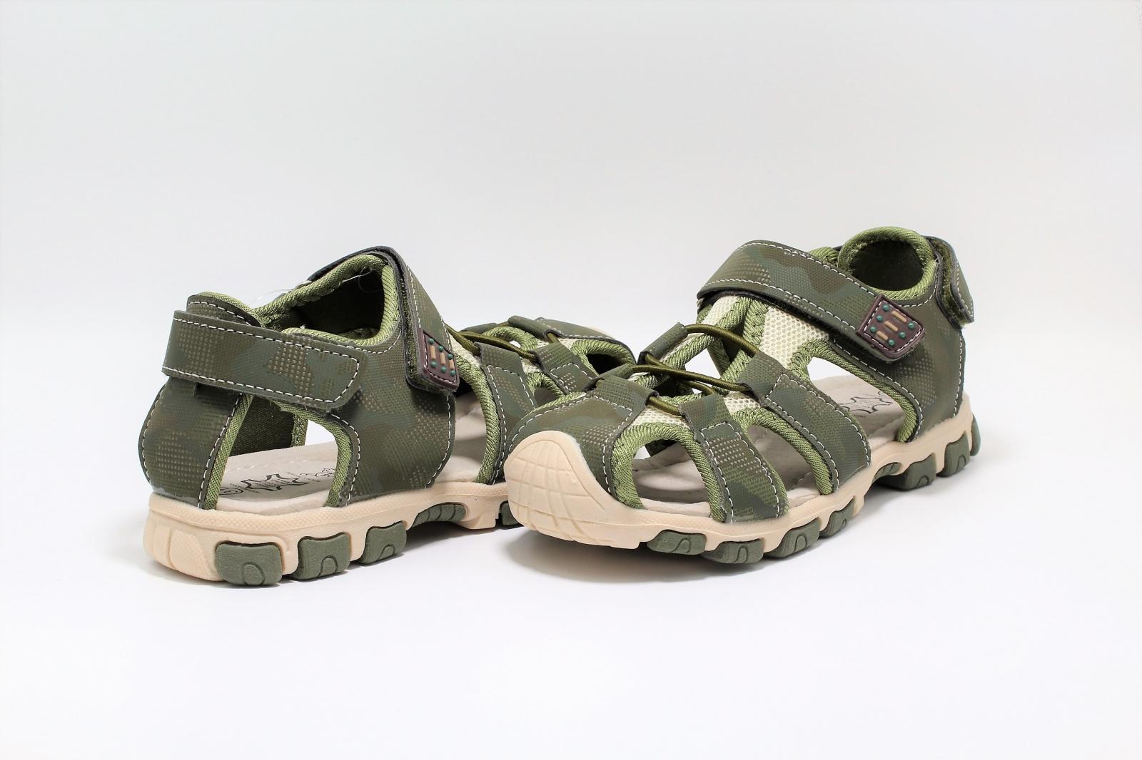 vânzare cu reduceri super calitate pret de fabrica Sandale baieti Army Camuflaj DGN piele si material textil ...