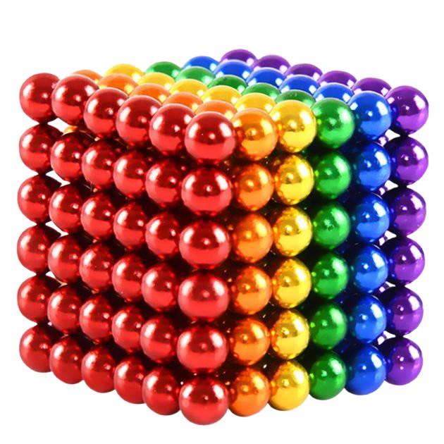 Joc de indemanare, bile magnetice, 216 bucati, multicolor 1