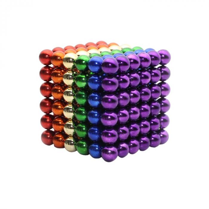 Joc de indemanare, bile magnetice, 216 bucati, multicolor 2
