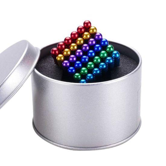 Joc de indemanare, bile magnetice, 216 bucati, multicolor 4