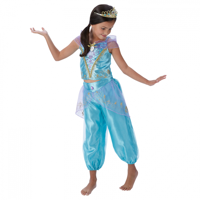 Costum Deluxe Printesa Jasmine pentru fete - Storyteller Jasmine [0]