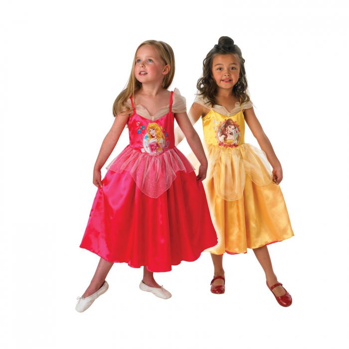 Costum reversibil Disney Belle si Aurora, Frumoasa si Bestia, Glitter Printess 0