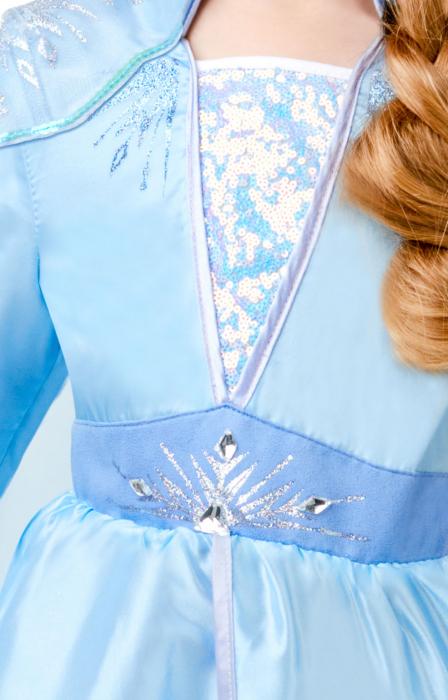 Costum Disney Deluxe Elsa, Regatul de gheață 2, Frozen 2, marime S, 3 - 4 ani [3]
