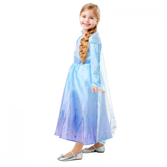 Costum Disney Deluxe Elsa, Regatul de gheață 2, Frozen 2, marime S, 3 - 4 ani [2]