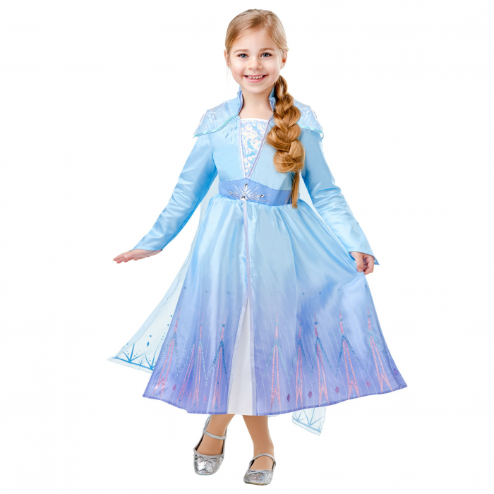 Costum Disney Deluxe Elsa, Regatul de gheață 2, Frozen 2, marime S, 3 - 4 ani [0]