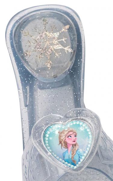 Set costum Disney Printesa Elsa, Regatul de gheață 2, Frozen 2, marime S, 3 - 4 ani si sandalute din cauciuc [3]