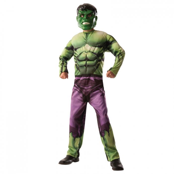 Costum reversibil Hulk si Captain America cu muschi pentru baieti [2]