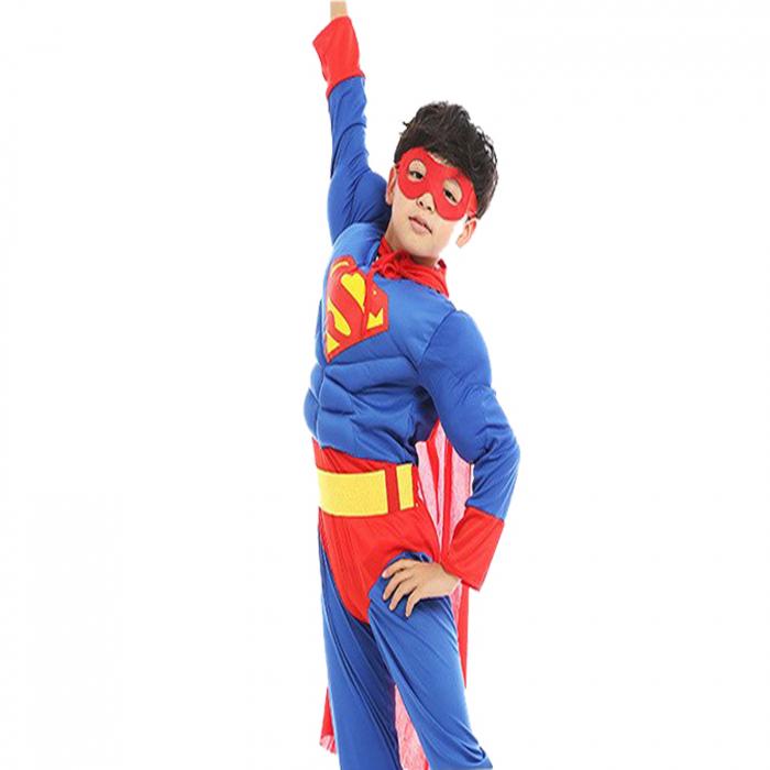 Costum cu muschi Superman pentru baieti [2]