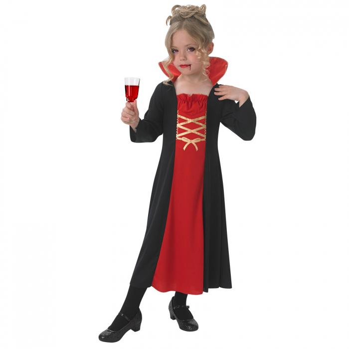 Costum Vampirita pentru copii , Glitter  Vampiress, Rubie's, 3 - 4 ani 0