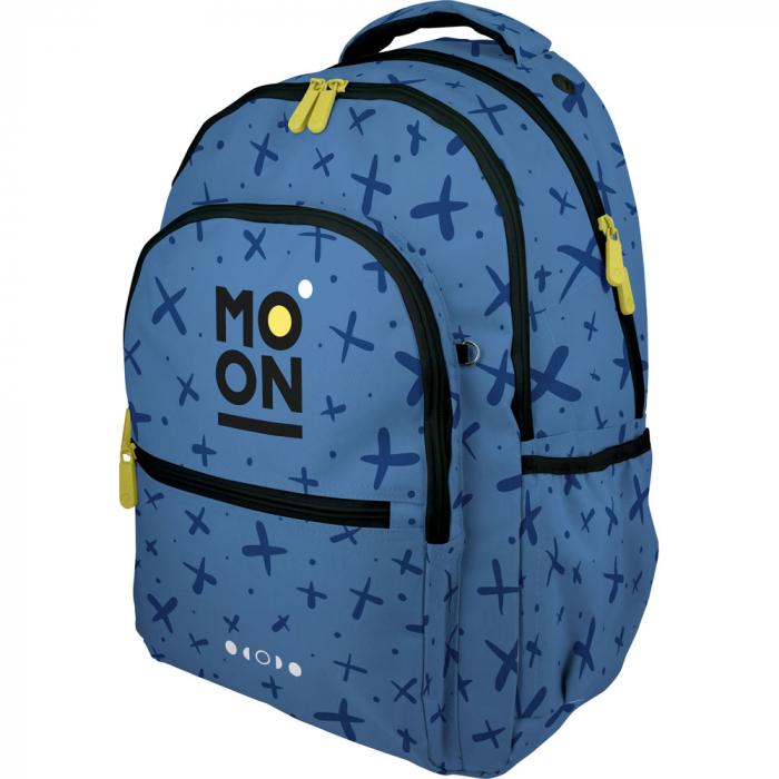 Ghiozdan ergonomic Moon Azul pentru copii [0]