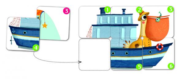 Joc de cărți Djeco Batapuzzle [1]