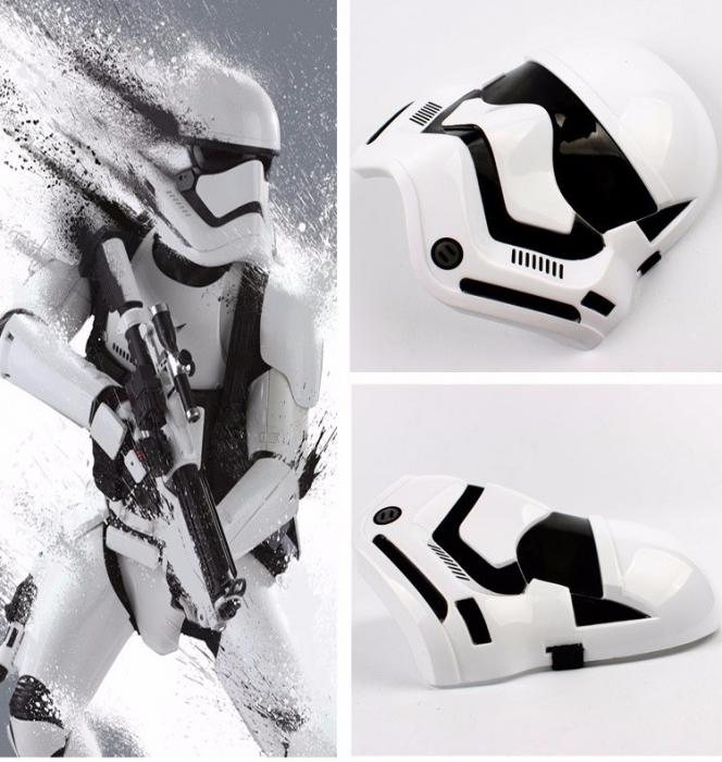 Masca Stormtrooper pentru copii, LED, marime universala, alba [4]