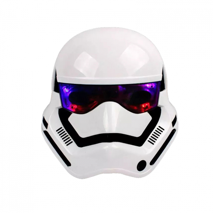 Masca Stormtrooper pentru copii, LED, marime universala, alba [0]
