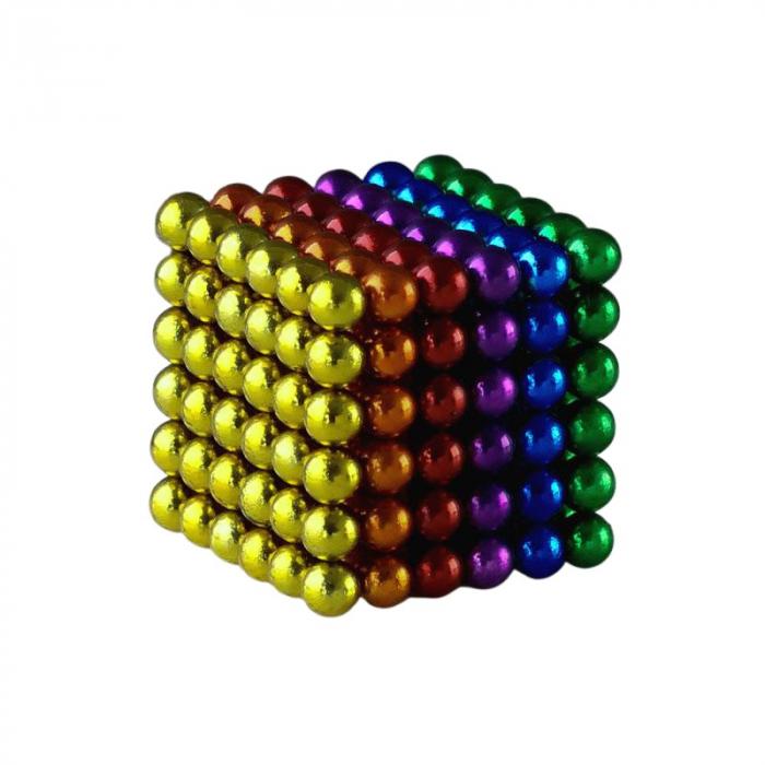 Joc de indemanare, bile magnetice, 216 bucati, multicolor 0