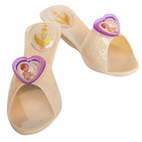 Set costum Disney Printesa Anna, Frozen 2 si pantofi fete Printesa Anna, marime S, 3 - 4 ani [1]