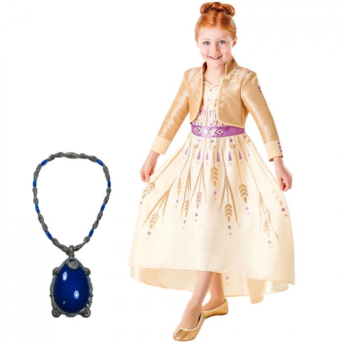 Set costum Disney Printesa Anna si amuleta magica muzicala, Regatul de gheață 2, Frozen 2, marime S, 3 - 4 ani [0]