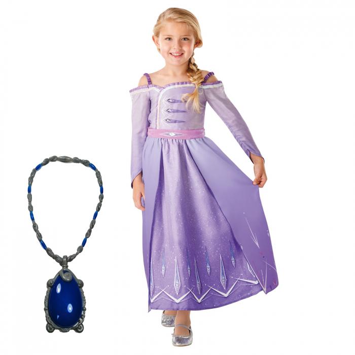 Set costum Disney Printesa Elsa si amuleta magica muzicala, Regatul de gheață 2, Frozen 2, marime M, 5 - 6 ani [0]