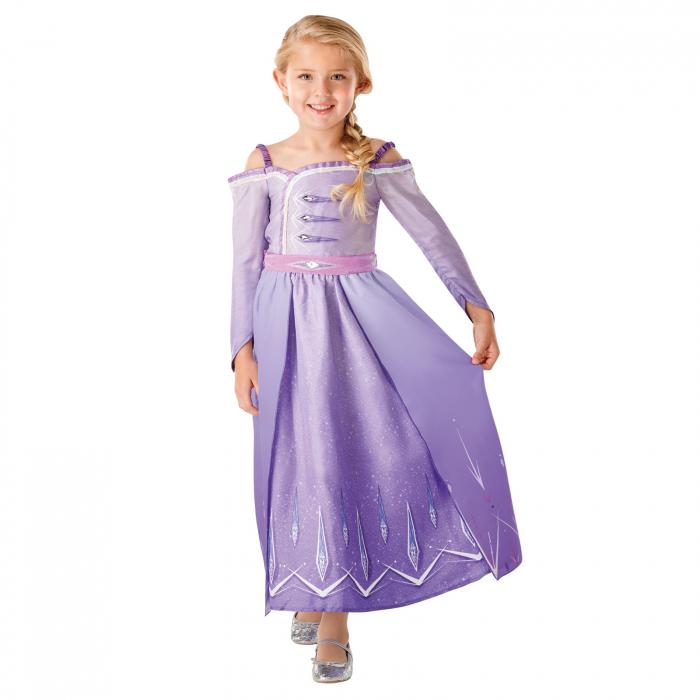 Set costum Disney Printesa Elsa si amuleta magica muzicala, Regatul de gheață 2, Frozen 2, marime M, 5 - 6 ani [1]