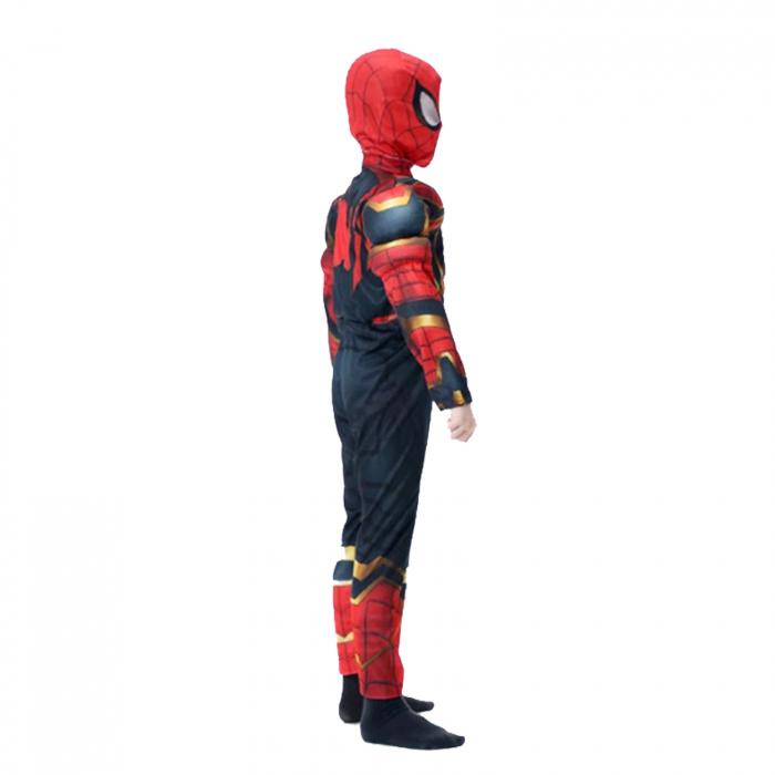 Set costum Iron Spiderman cu muschi si pistol pentru baieti [1]