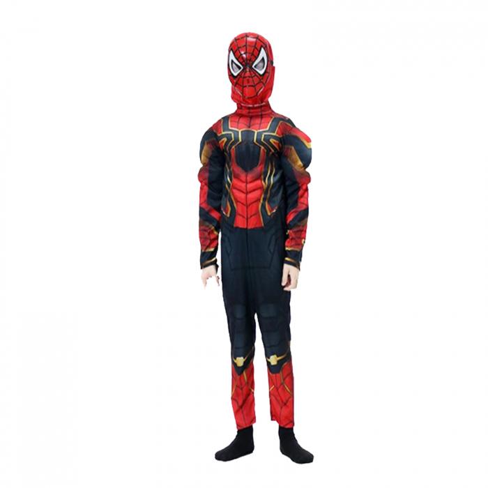 Set costum Iron Spiderman cu muschi si pistol pentru baieti [2]