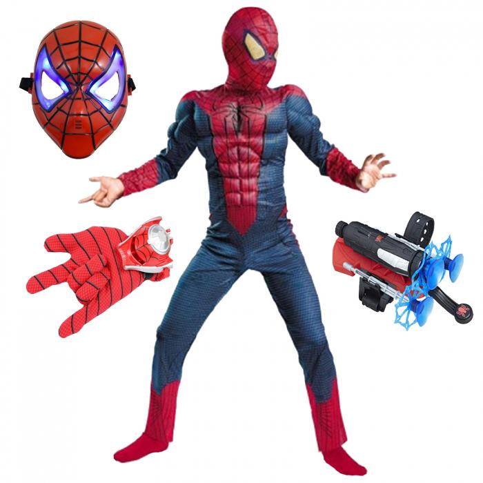 Set costum Spiderman cu muschi si accesorii pentru baieti [0]