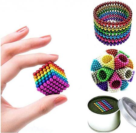 Joc de indemanare, bile magnetice, 216 bucati, multicolor3