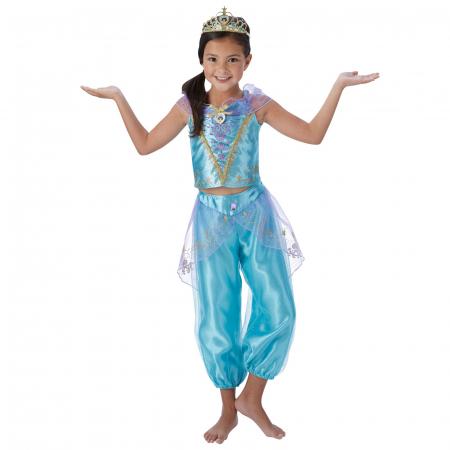 Costum Deluxe Printesa Jasmine pentru fete - Storyteller Jasmine [1]
