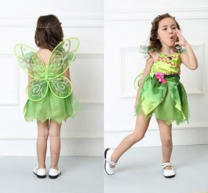 Costum carnaval Zana Clopotica, Tinkerbell, pentru copii, S, 110-120 CM, 4 - 6 ani [2]