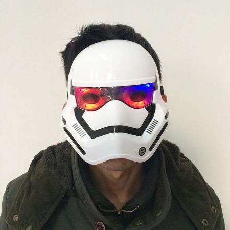 Masca Stormtrooper pentru copii, LED, marime universala, alba [1]