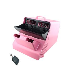 Masina de facut baloane, 100w, capacitate 2.5L, roz, cu telecomanda, lichid cadou [1]