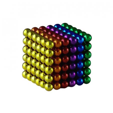 Joc de indemanare, bile magnetice, 216 bucati, multicolor0
