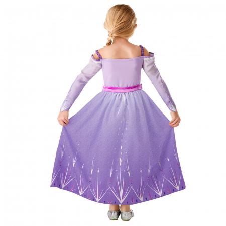 Set costum Disney Printesa Elsa si amuleta magica muzicala, Regatul de gheață 2, Frozen 2, marime M, 5 - 6 ani [2]