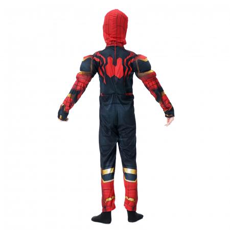 Set costum Iron Spiderman cu muschi si pistol pentru baieti [5]