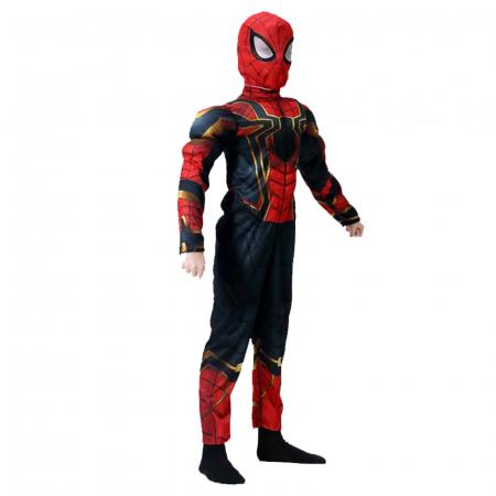 Set costum Iron Spiderman cu muschi si pistol pentru baieti [4]
