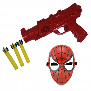 Set costum Spiderman cu muschi si pistol pentru baieti [1]