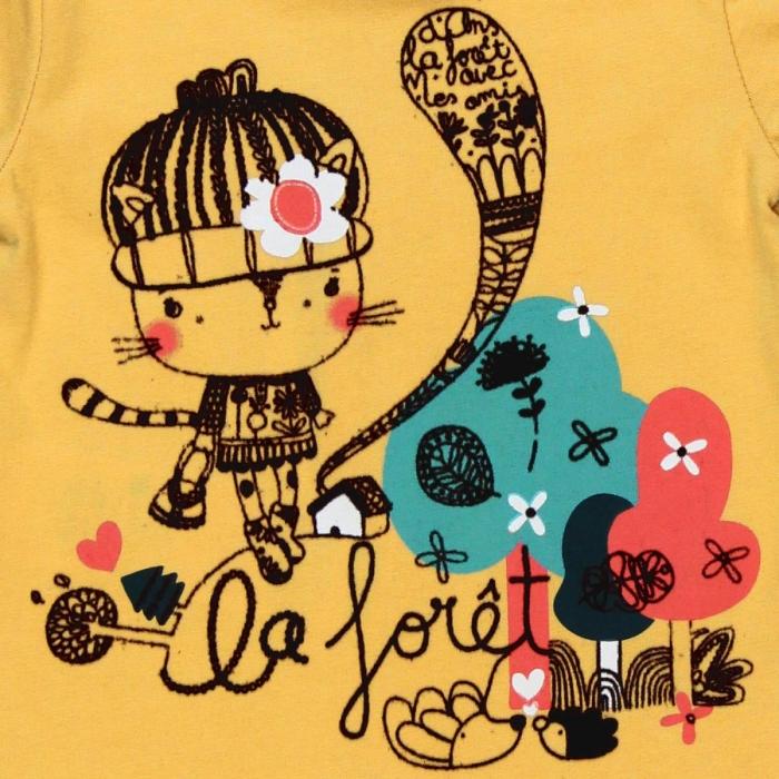Tricou maneca lunga , imprimeu fetita, Boboli 2