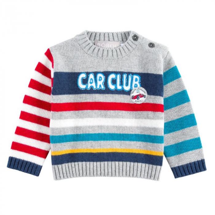 """Pulover bebe baiat, multicolor, """"car club"""", Boboli 0"""