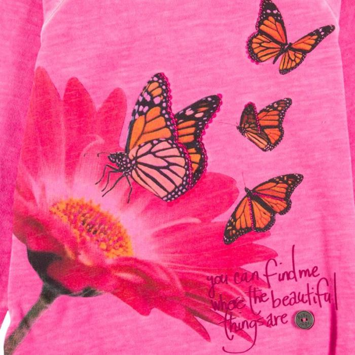 Tricou fete Boboli , imprimeu fluturi 4
