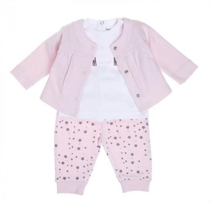 Babybol Set 3 piese fete 6-18 luni, roz 0